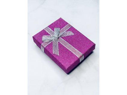 Darčeková krabička strieborná mašľa