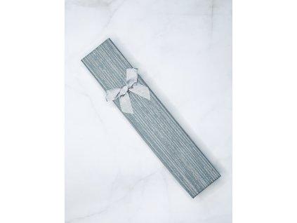 Darčeková krabička sivá mašľa