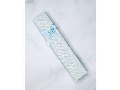 Darčeková krabička svetlo modrá mašľa