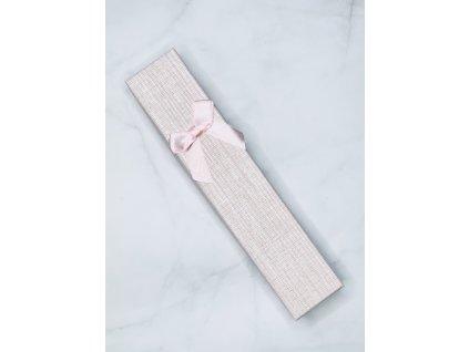 Darčeková krabička svetlo ružová mašľa