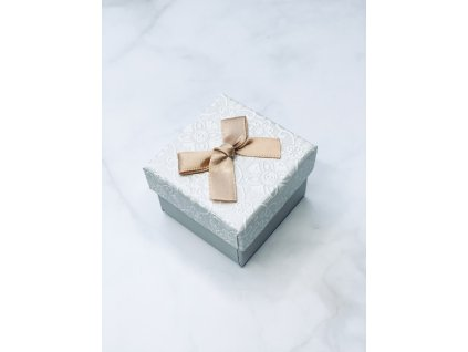 Darčeková krabička zlatá mašľa