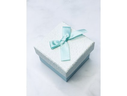 Darčeková krabička malá s modrou mašľou
