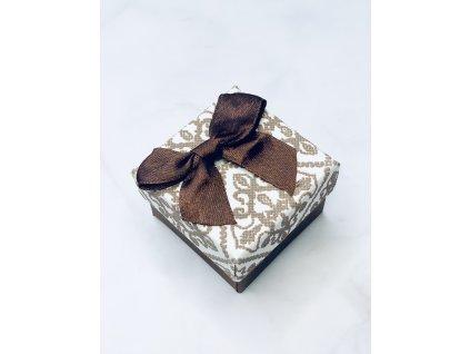 Darčeková krabička malá s hnedou mašľou