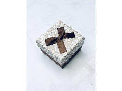 Darčeková krabička malá jemný vzor