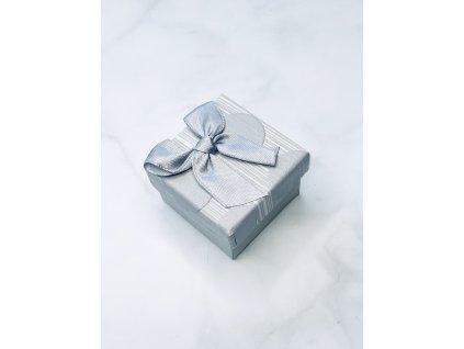 Darčeková krabička malá so striebornou mašľou