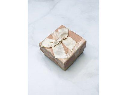 Darčeková krabička malá so zlatou mašľou