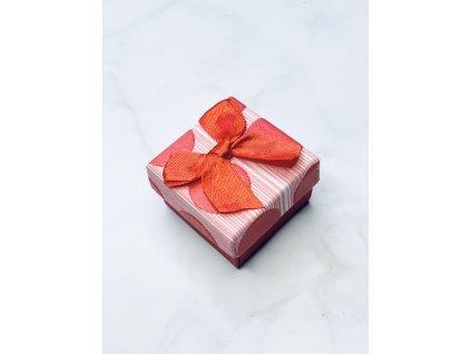 Darčeková krabička malá s červenou mašľou