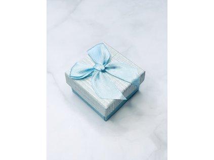 Darčeková krabička malá so svetlo modrou mašľou