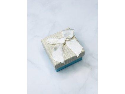 Darčeková krabička malá s béžovou mašľou