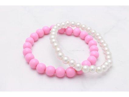 Detské náramky 2 ks Pearls