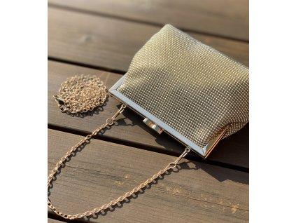 Nádherná zlatá kabelka