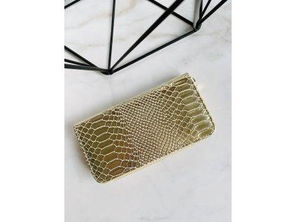 Zlatá peňaženka so štruktúrou