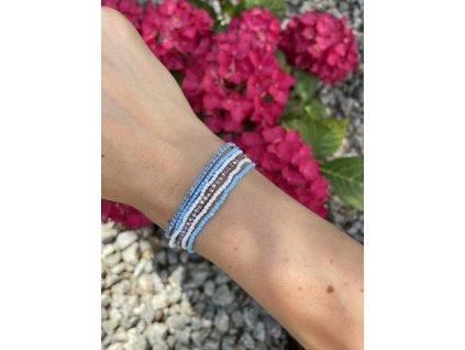 Kamienkovo korálkový náramok Blue