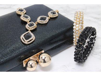Trendová kufríková kabelka čierna