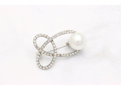Brošňa uzlík s perlou