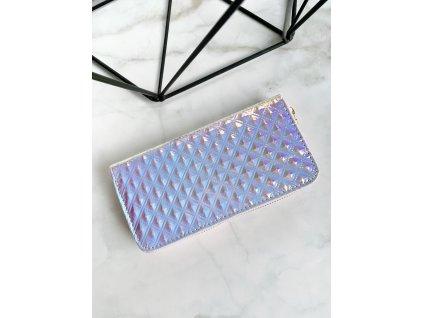 Farebná Holografická peňaženka so štvorcami