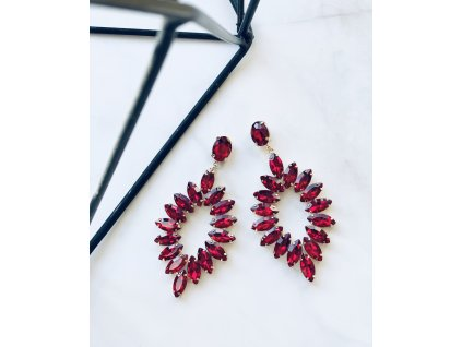 Kamienkové červené náušnice