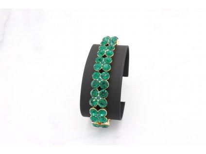 Kamienkový smaragdový náramok