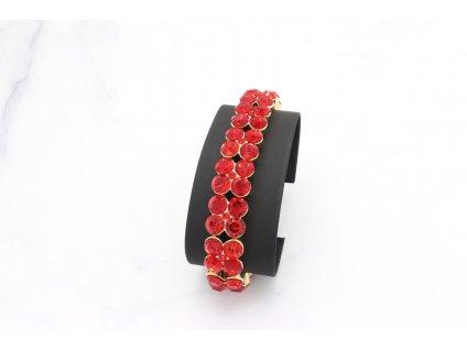 Kamienkový červený náramok