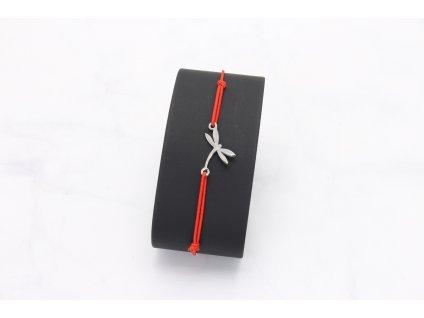 Náramok červená gumička vážka