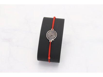 Náramok červená gumička špirála