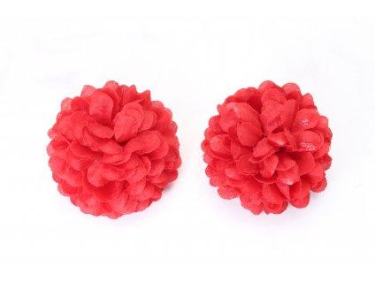 Set dvoch červených kvetov