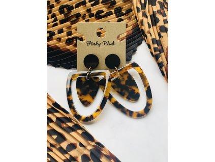 Skladaná šatka s tigrovaným vzorom