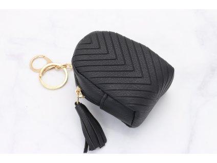 Čierny prívesok Mini Ruksak