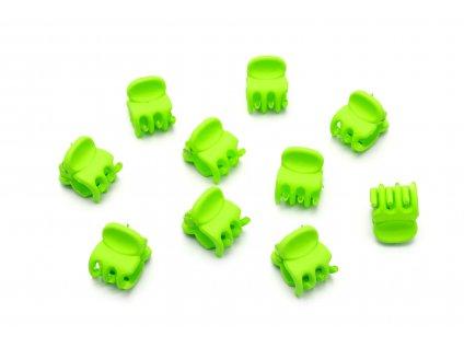 Set zelených štipcov 10 ks