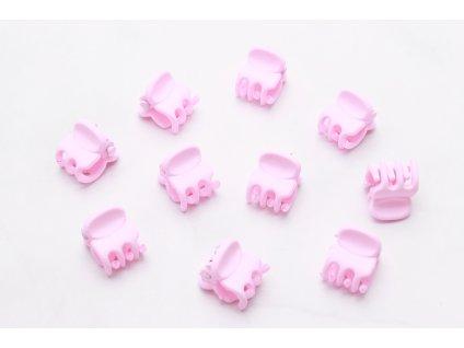 Set baby ružových štipcov 10 ks