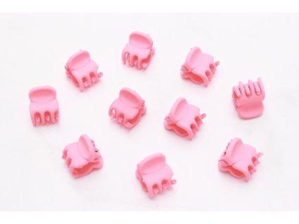 Set neónovo ružových štipcov 10 ks