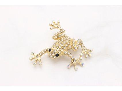 Brošňa zlatá žabka
