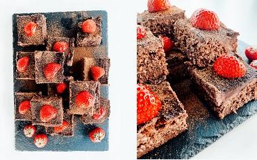 Čokoládovo proteinové řezy