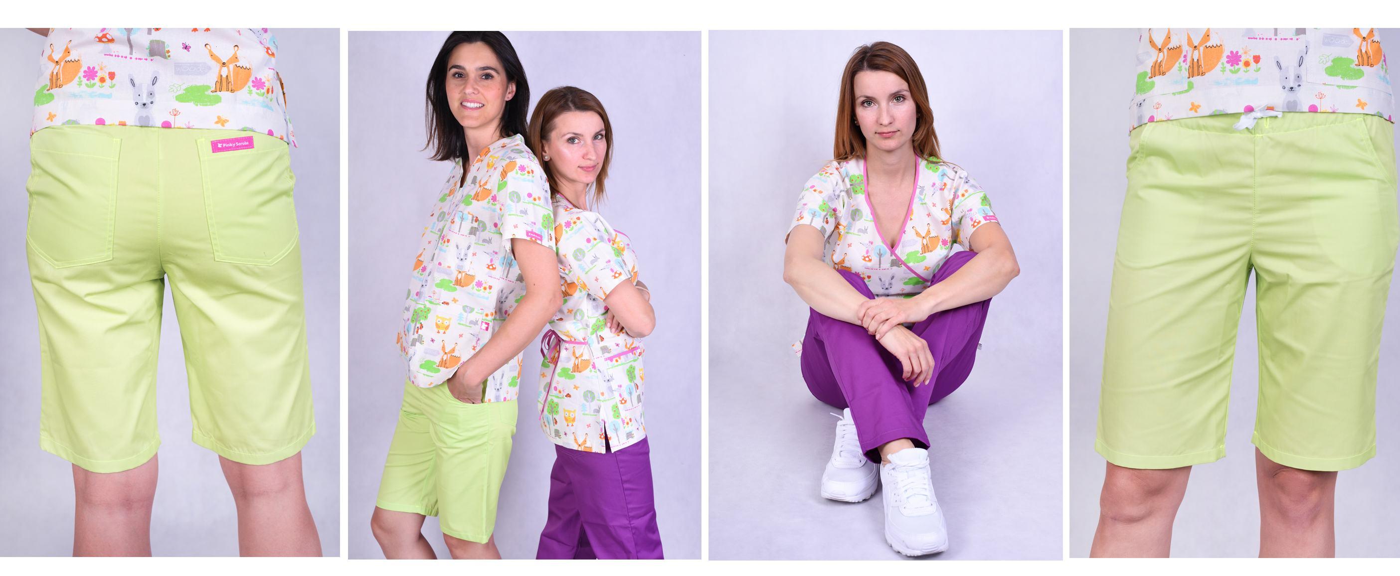 Barevné lékařské haleny s obrázky a kalhoty 2020 06