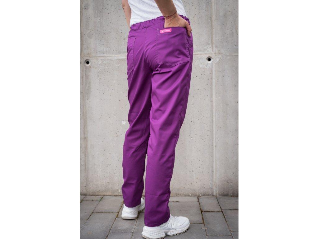 Zdravotnické kalhoty fialové