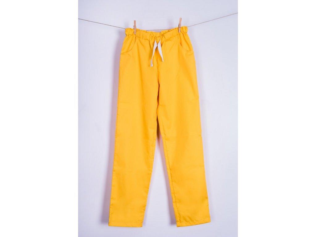 Zdravotnické kalhoty žluté