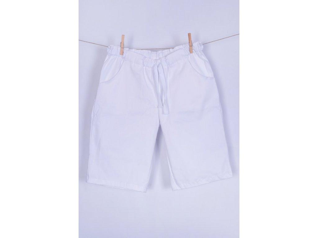 Zdravotnické šortky bílé