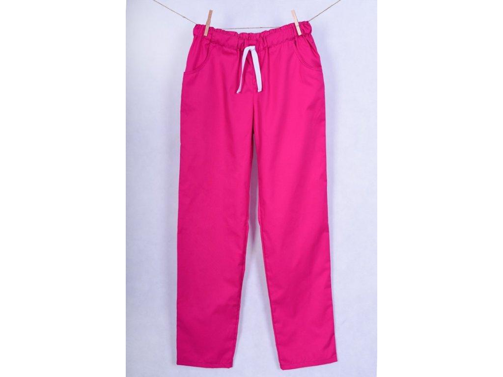 Zdravotnické kalhoty růžové s elastanem