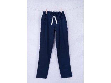 Pánské zdravotnické kalhoty tmavě modré s elastanem