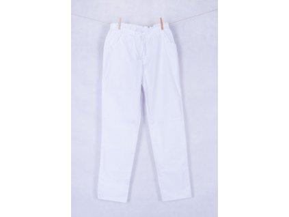 Pánské zdravotnické kalhoty bílé s elastanem