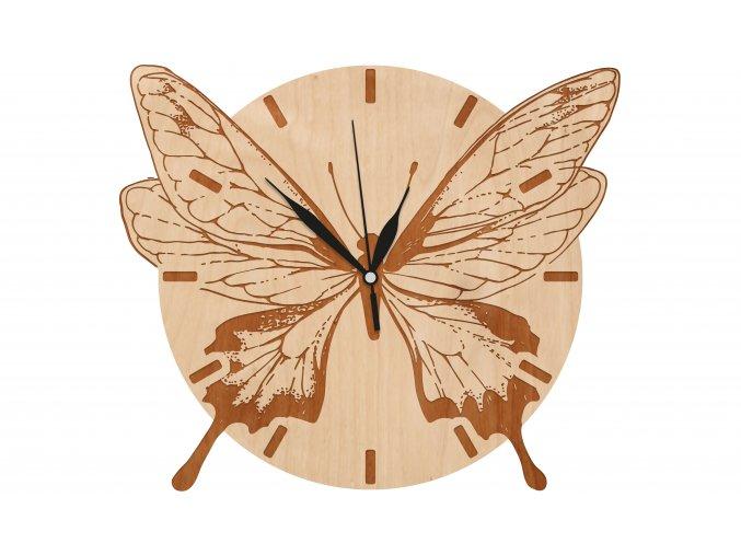 hodiny 32x28 motyl