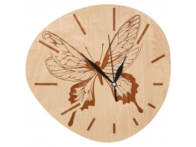hodiny 30x30 motyl 02