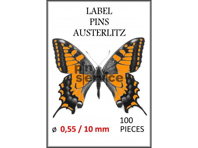 label pins 0,55 10 mm 100 pcs