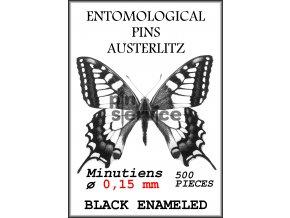 Black enameled minutiens - size 0,15 - 500 pcs