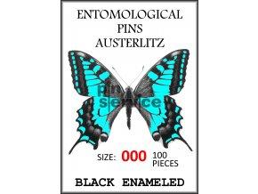Black enameled pins - size 000 - 100 pcs
