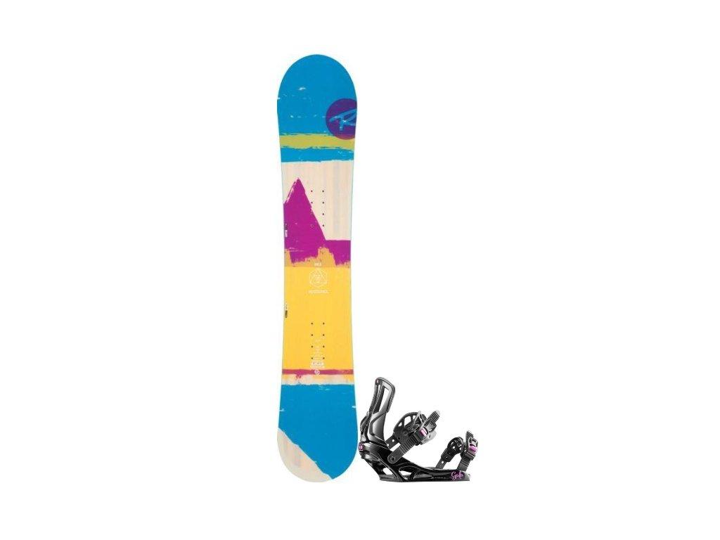 Snowboard Rossignol Set Gala + Vázání Gala S/M
