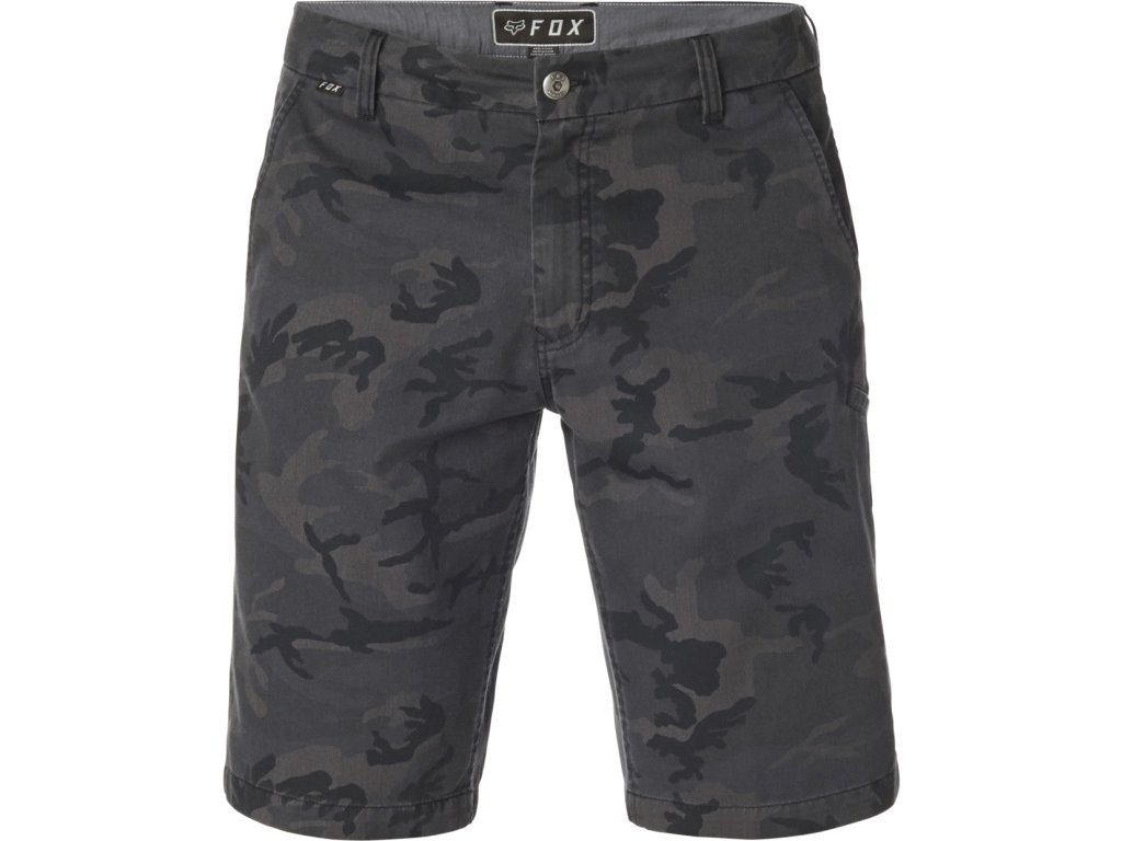 Kraťasy FOX ESSEX COMA SHORT BLACK CAMOR