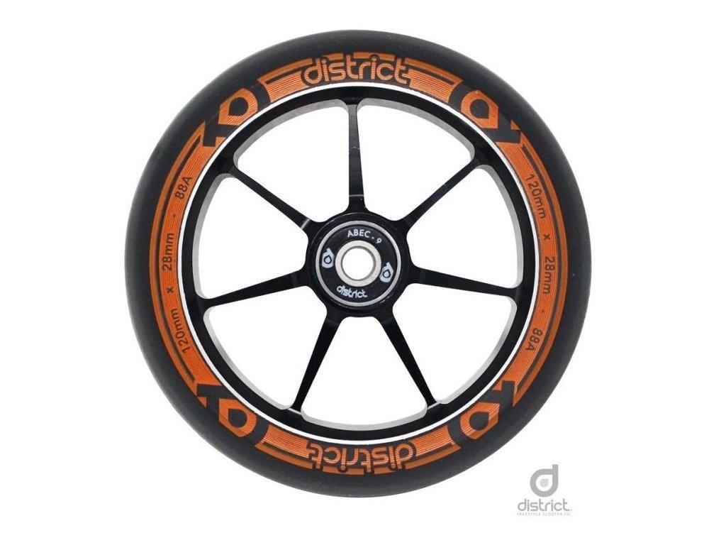 diw19004 district w120 wheels orange single