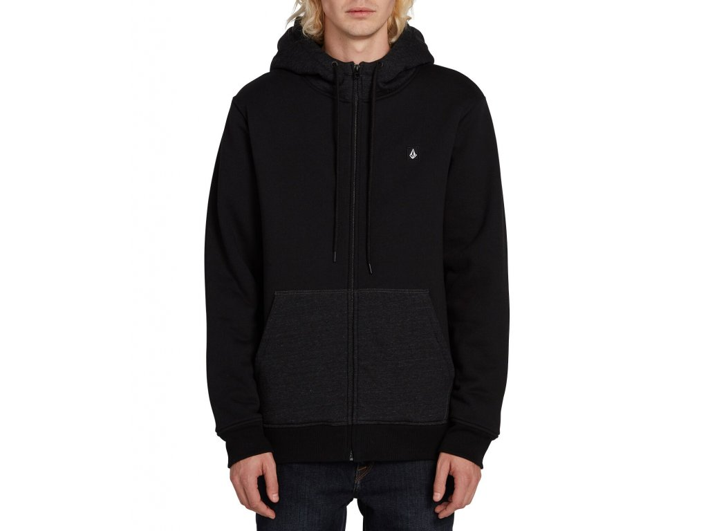 MIKINA VOLCOM SNGL STN LINED BLACK