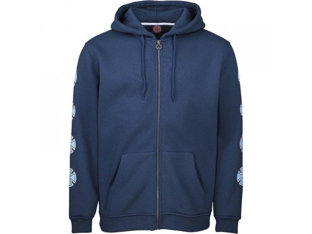 mikina-independent-repeat-cross-zip-hood-navy